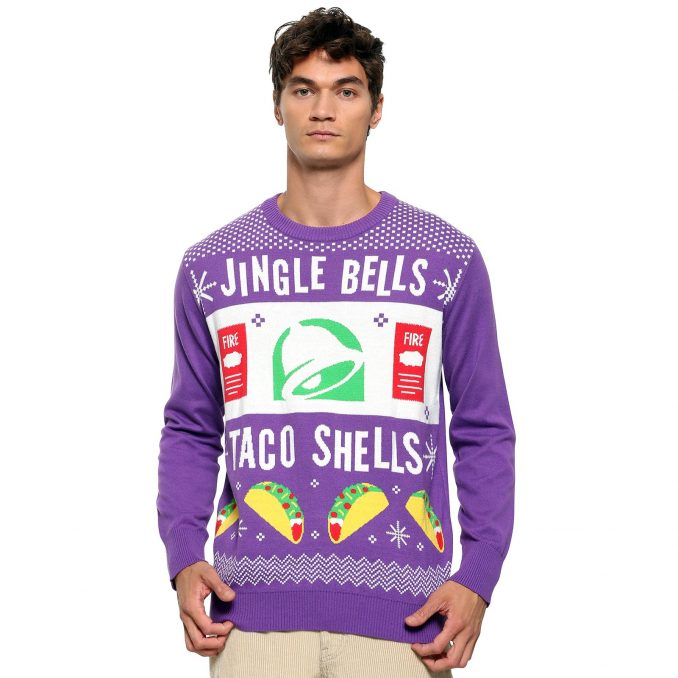 Taco Bell Jingle Bells Taco Shells Ugly Christmas Sweater