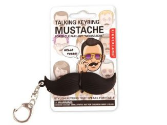 Talking Mustache Keychain