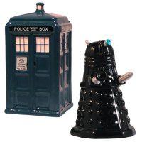 Tardis Vs Dalek Salt & Pepper Shakers