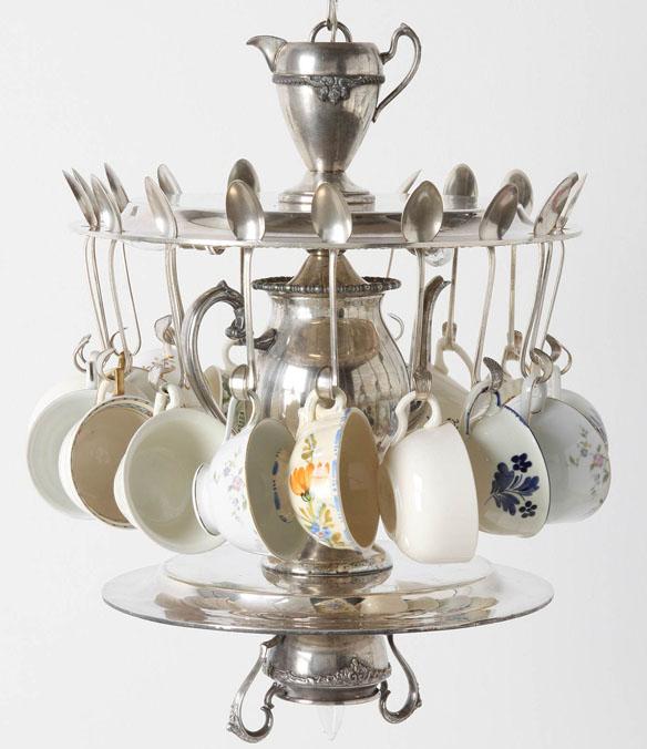 Tea time chandelier - Build a chandelier ...