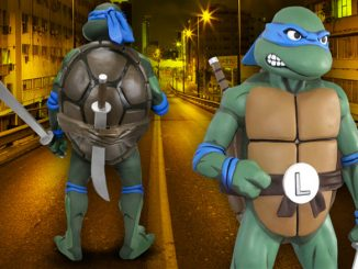Teenage Mutant Ninja Turtles Classic Leonardo Full Size 11 Scale Foam Figure Prop Replica & Tag: Teenage Mutant Ninja Turtles | GeekAlerts