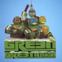 Teenage Mutant Ninja Turtles Green Greetings Christmas Ornament