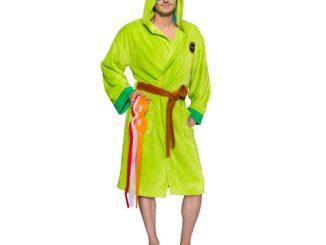 Teenage Mutant Ninja Turtles Hooded Bath Robe with Interchangable Masks