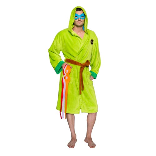 Teenage Mutant Ninja Turtles Hooded Bath Robe with Interchangable Masks