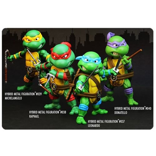 Teenage Mutant Ninja Turtles Hybrid Metal Figuration Die-Cast Metal Action Figure 4-Pack