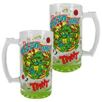 Teenage Mutant Ninja Turtles Its Pizza Time Oversized Glass Mug
