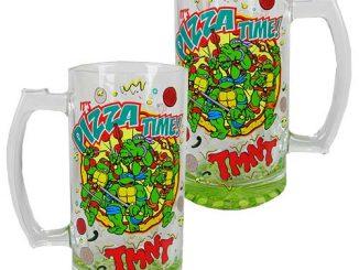 Teenage Mutant Ninja Turtles Its Pizza Time Oversized Glass Mug