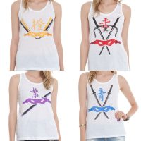Teenage Mutant Ninja Turtles Mask Tank Tops for Girls