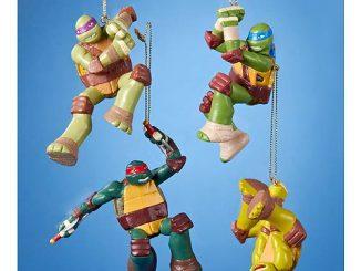 Teenage Mutant Ninja Turtles Nick TV Blow Mold Ornament Set