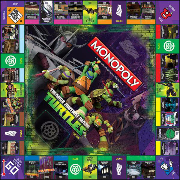 Teenage Mutant Ninja Turtles Nickelodeon Monopoly Board Game