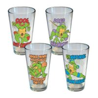 Teenage Mutant Ninja Turtles Phrases Pint Glass 4-Pack