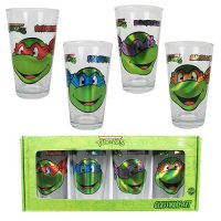 Teenage Mutant Ninja Turtles Smiley Face Laser 16 oz. Pub Glass 4-Pack