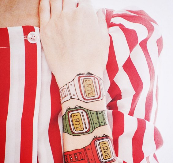 Temporary Watch Tattoos