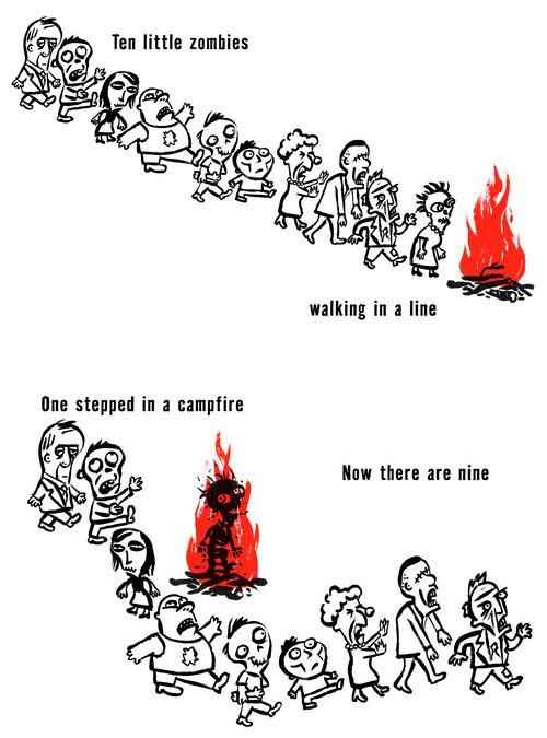 Ten Little Zombies Book