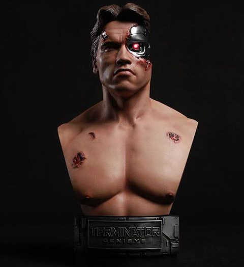 Terminator Genisys Battle Damaged T-800 1-2 Scale Bust 1