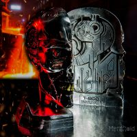 Terminator Judgment Day T-800 Bookends