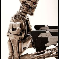 Terminator T800 Endoskeleton Life-Sized Figure Side View