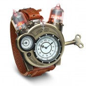 Steampunk-Styled Tesla Analog Watch