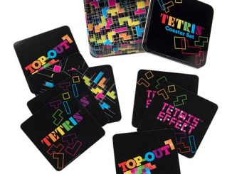 Tetris Coaster Set with Tin Storage Box 10-Pack