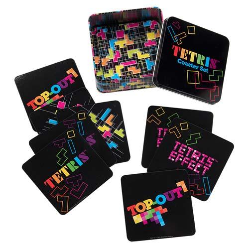 Tetris Coaster Set with Tin Storage Box 10-Pack