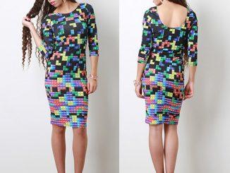 Tetris Tile Connection Dress