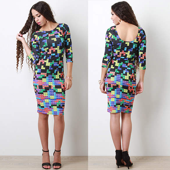 Tetris Tile Connection Dress