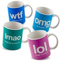 Text Speak Mugs