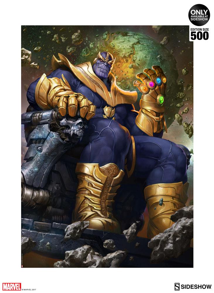 Thanos On Throne Variant Art Print