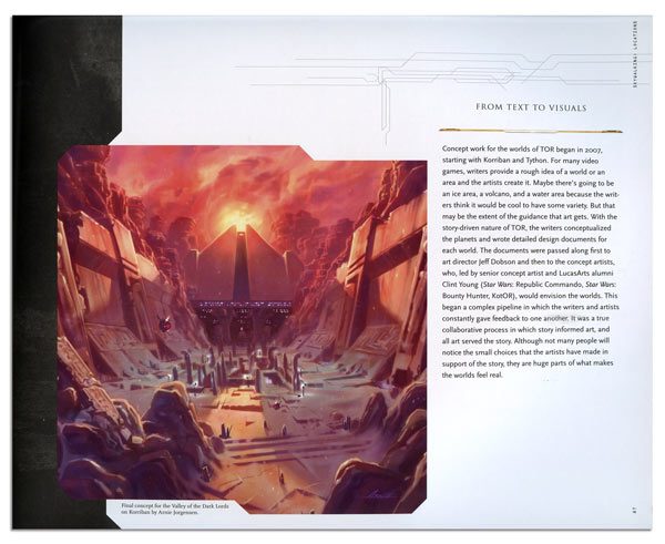 The Art & Making of Star Wars The Old Republic Book