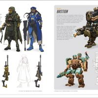 The Art of Overwatch Hardcover Book Ana Bastion
