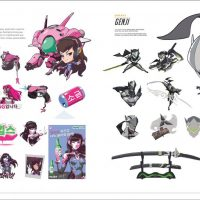 The Art of Overwatch Hardcover Book DVa Genji