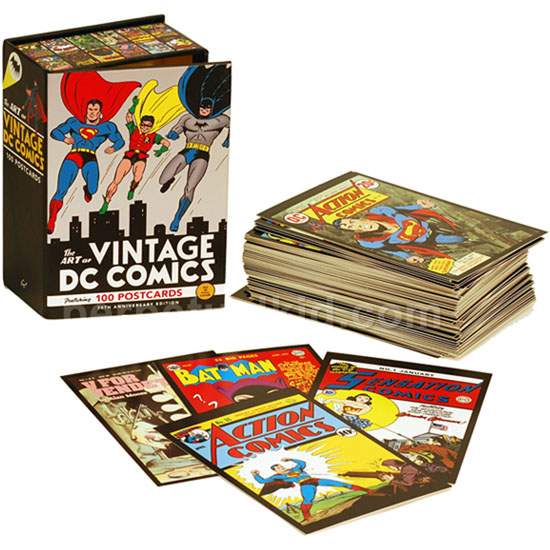 The Art of Vintage DC Comics 100 Postcards