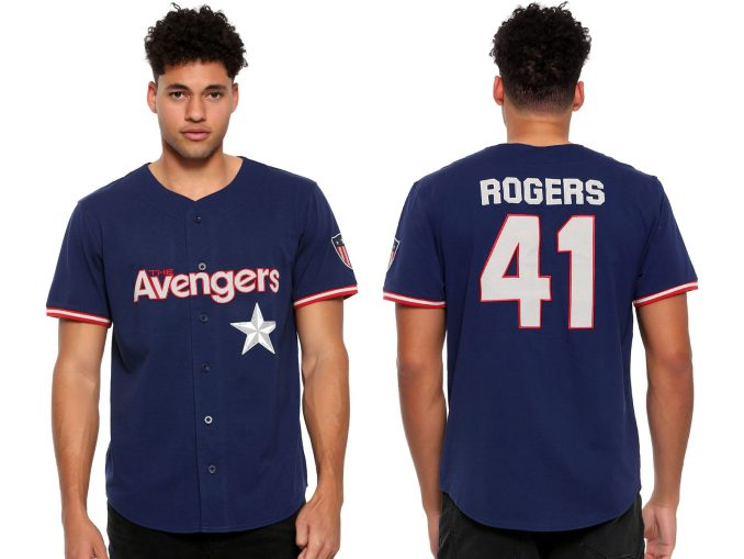 The Avengers Captain America Rogers Shield Jersey