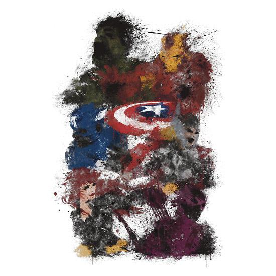 The Avengers Splatter TShirt