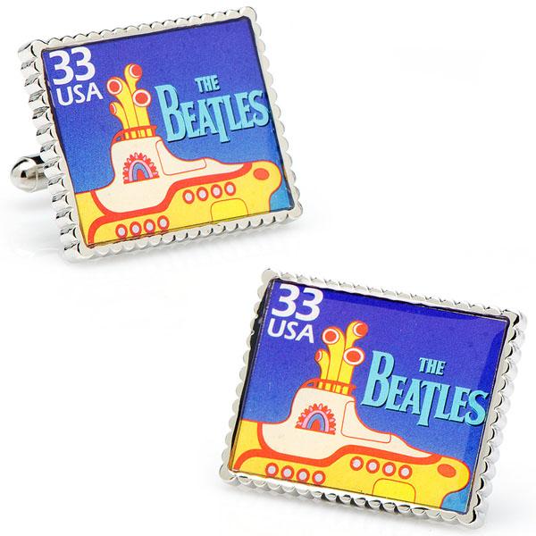 The Beatles Yellow Submarine Stamp Cufflinks