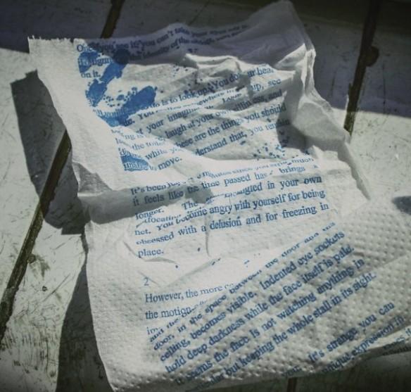 The Drop Horror Novel Toilet Paper