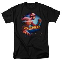 The Flash Running Adult Black T-Shirt
