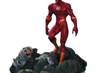 The Flash vs. Gorilla Grodd Patina Mini Statue