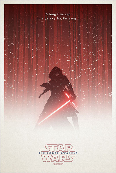 The Force Awakens Kylo Ren Exclusive Poster