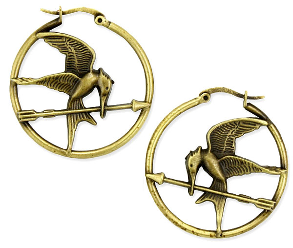 The Hunger Games Logo Hoop Earrings