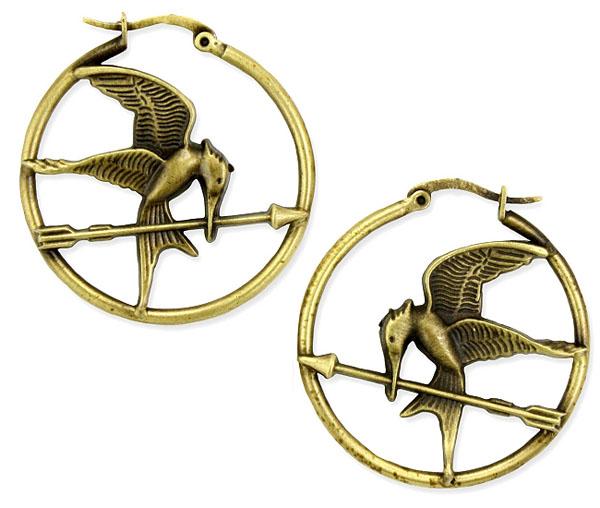 The Hunger Games Logo Hoop Earrings
