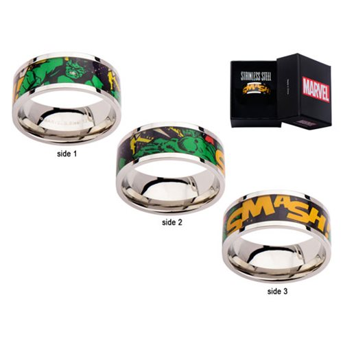 The Incredible Hulk Printed Comics Stainless Steel Ring
