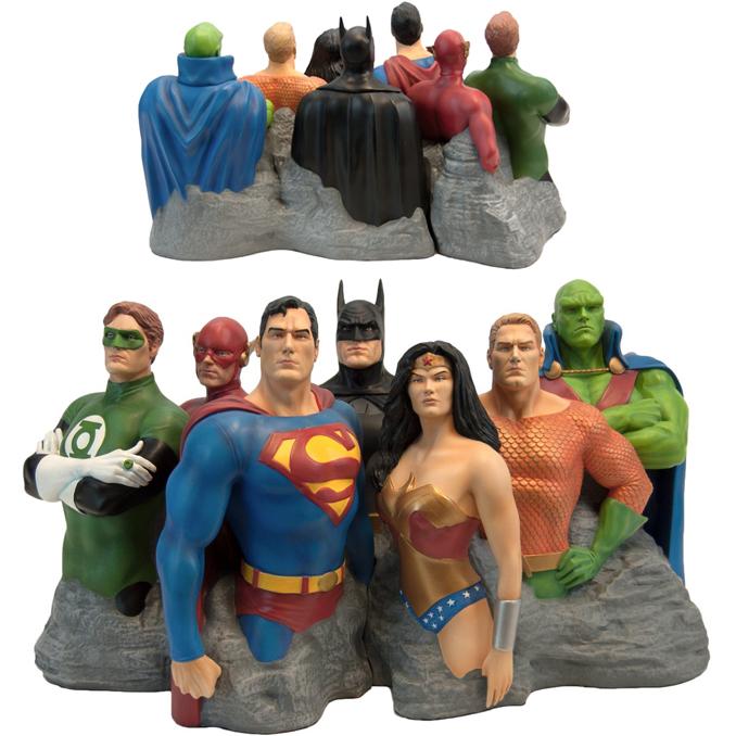The Justice League Original 7 Alex Ross Fine Art Sculpture