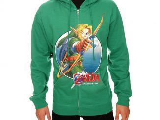 The Legend Of Zelda Ocarina Of Time Link Bow Zip Hoodie