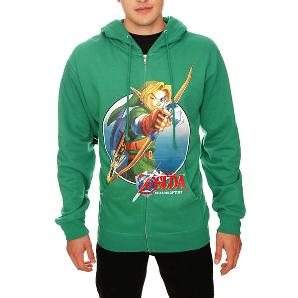 The Legend Of Zelda Ocarina Of Time Link Bow Zip Hoodie