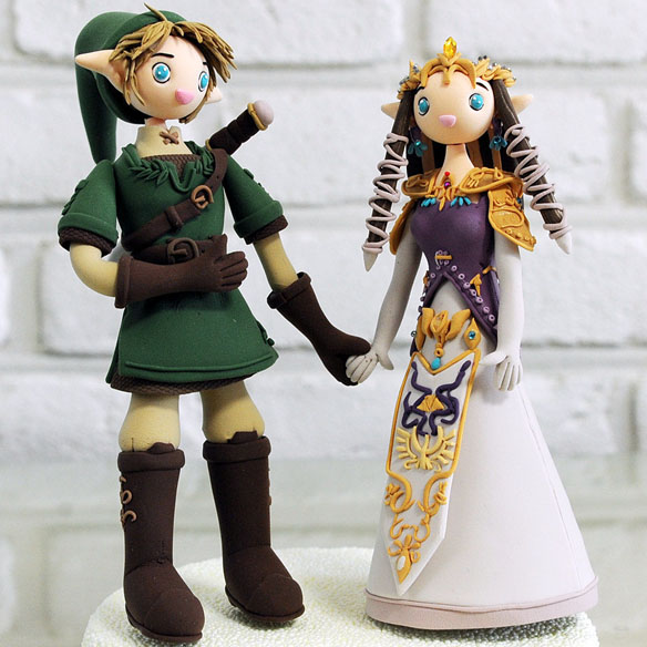 legend of zelda wedding cake topper the legend of custom wedding cake topper geekalerts 16788