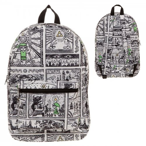 The Legend of Zelda Game Drawings Sublimated Backpack