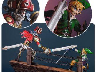 The Legend of Zelda Skyward Sword Link vs Scervo Diorama Statue