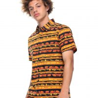 The Lion King Silhouette Woven Button Up Shirt