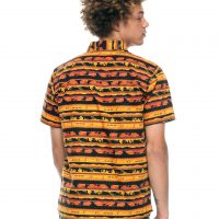 The Lion King Silhouette Woven Button Up Shirt Back